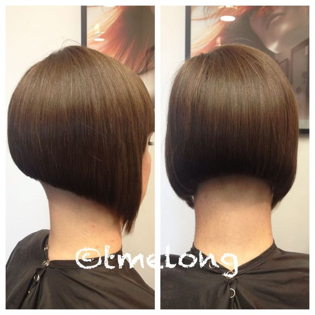 Michelle; extreme undercut with unconventional bob