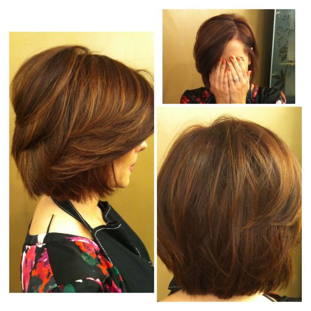 Multi-tonal brown bob