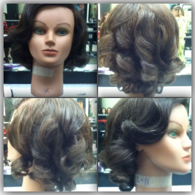 My Pin Curl Creation