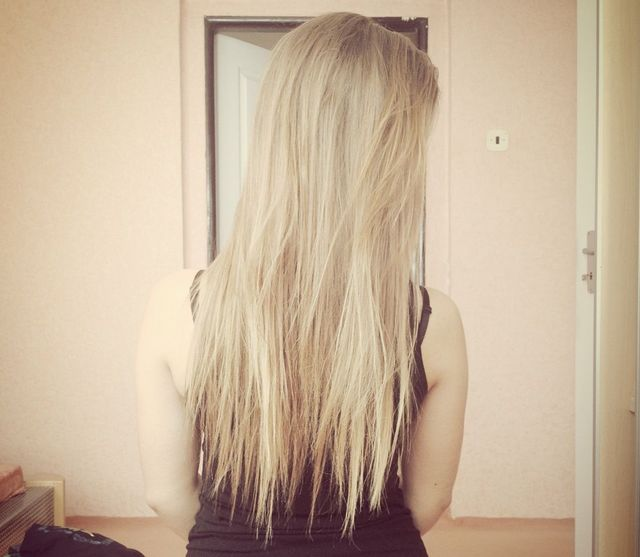 My blond hair