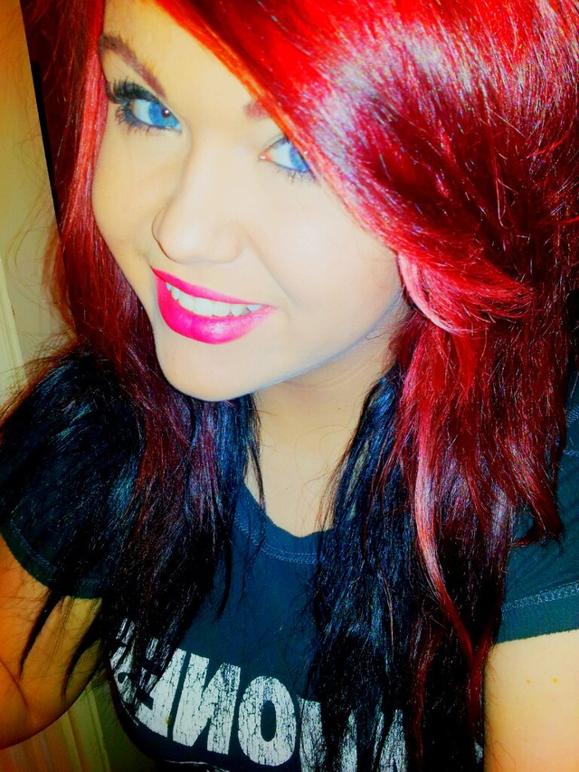 My old pink and red hair