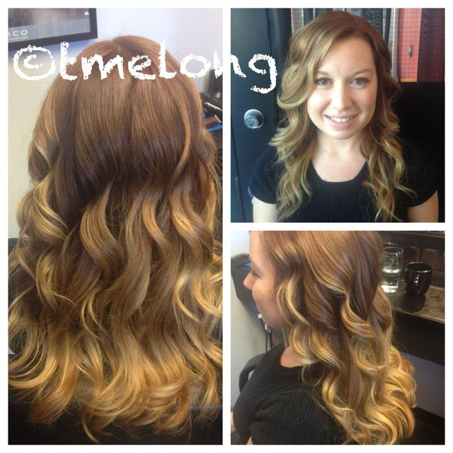 Natural, golden toned ombre for Megan! Pretty and low maintenance.