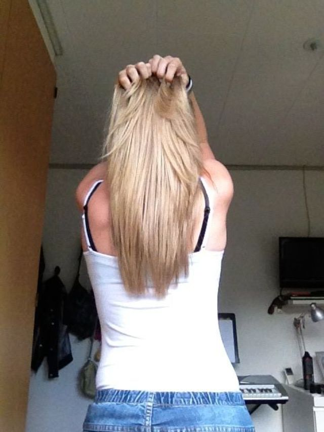 New blond hair