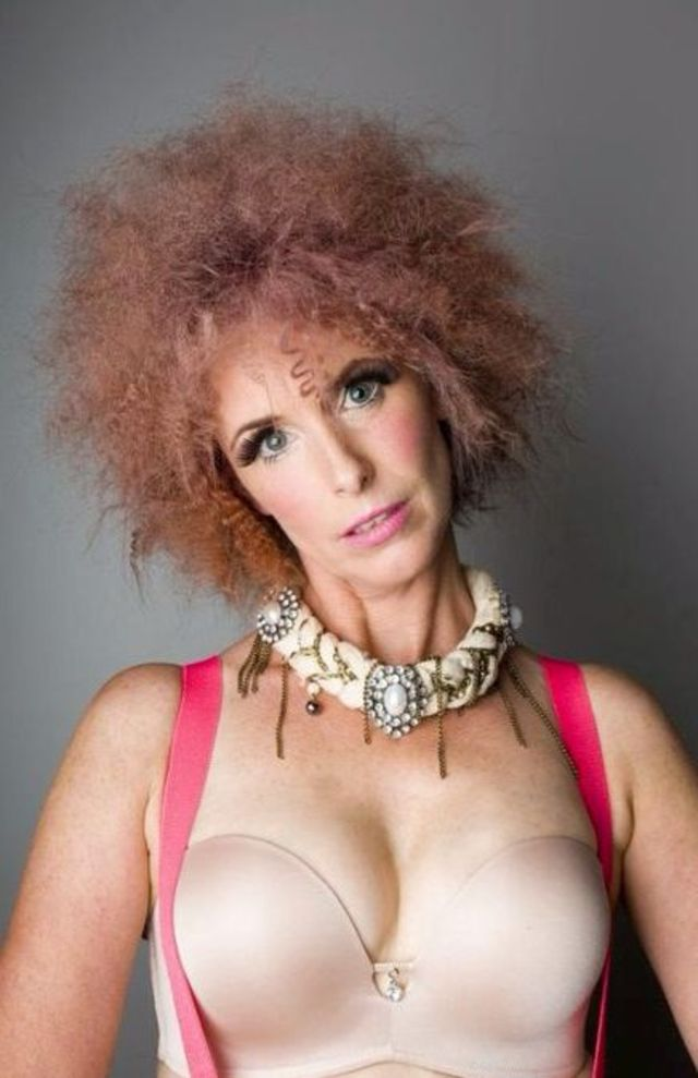 Pink 'fro: Colour cut and styling my myself. Photographer Scott James Prebble