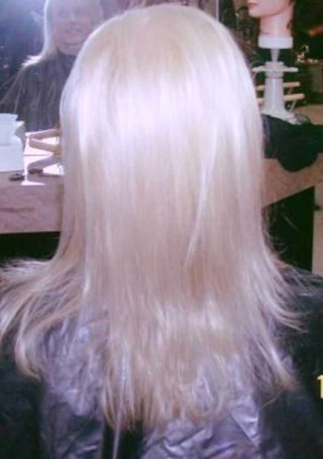 Platinum Blonde with great volume!
