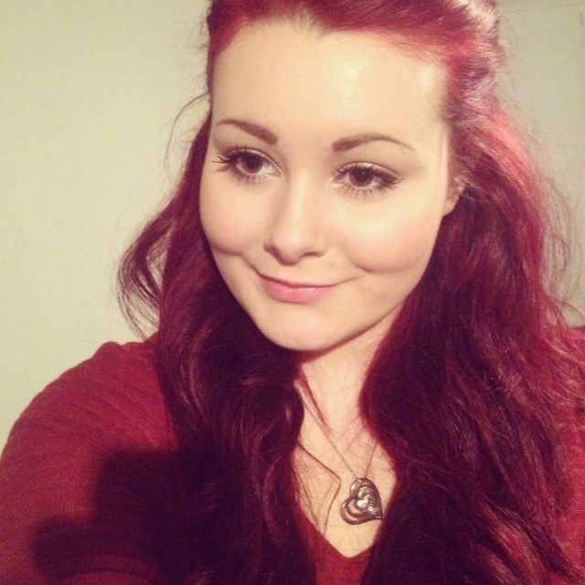 Red hair with extensions