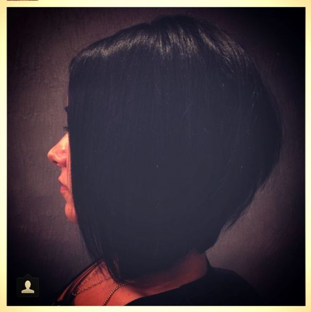 Restyle of a one length bob