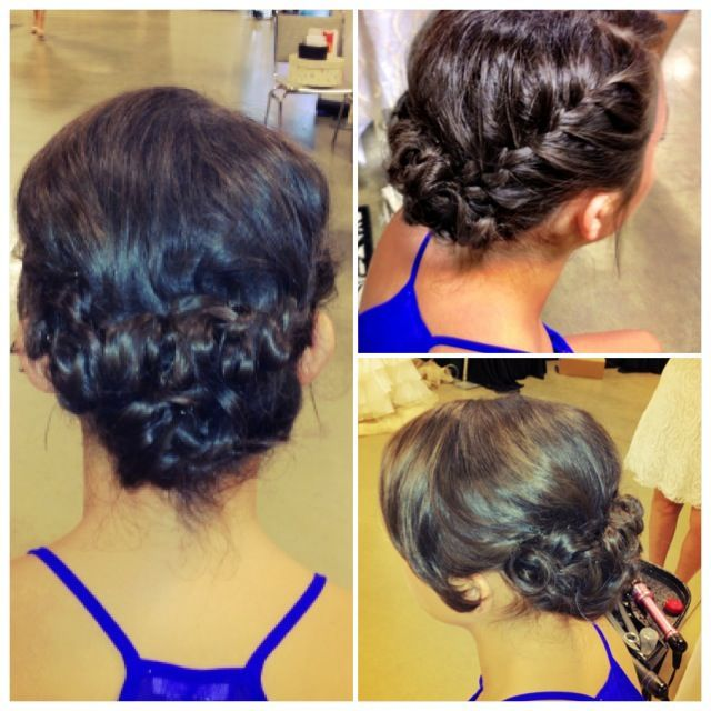 Side Braid Updo