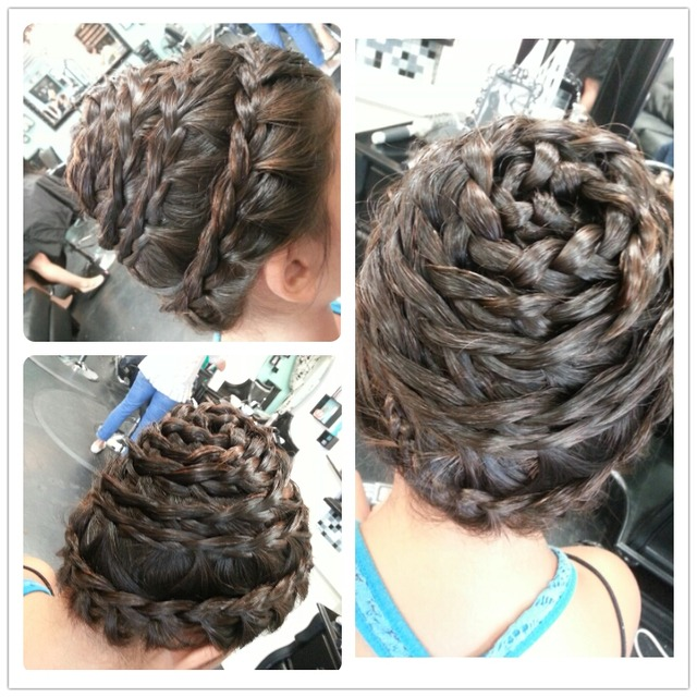 Spiral French Braid
