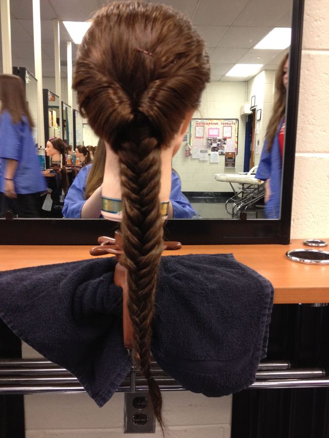 Topsy Tail into fish tail braid
