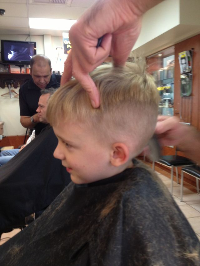 Tristan!...short, back & sides