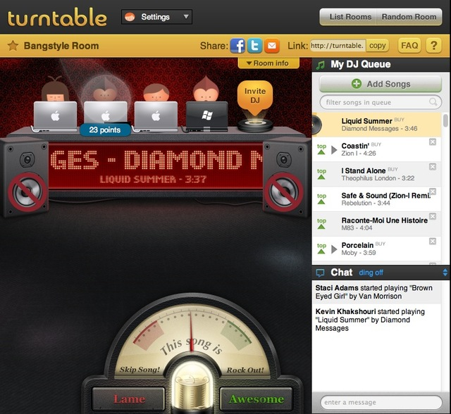 Turntable.fm Bangstyle.com