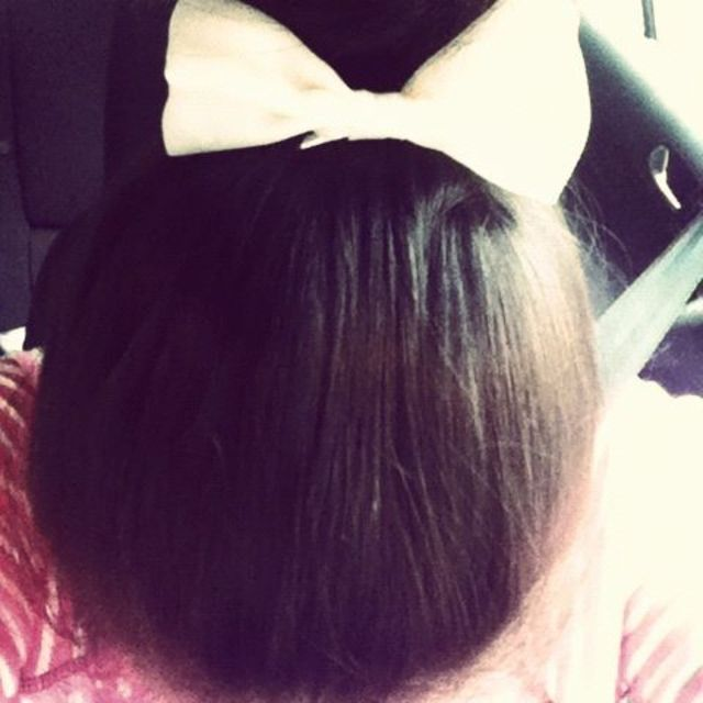 Up Bun topped with a Bow