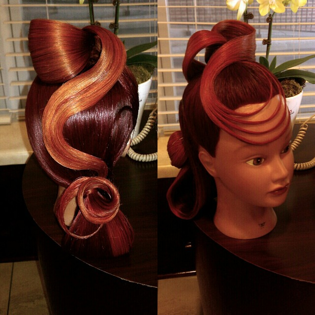 Updo for Competition