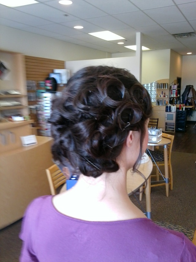 Updo with a bob