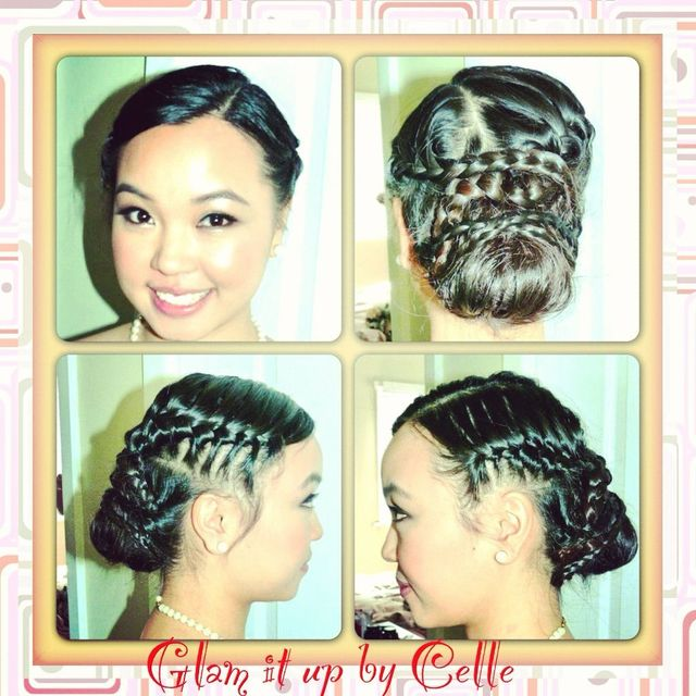 Upstyle with braids