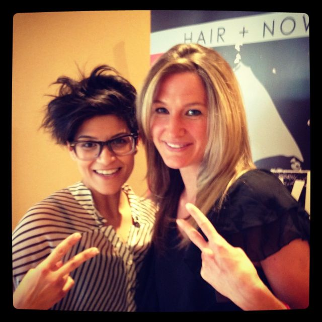 Vicki Editor from Realstyle network and magazine had the pleasure to style her hair for the Bangstyle event In Toronto