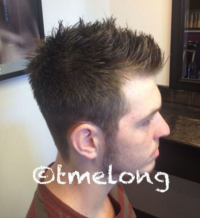 William. Scissor cut with some major texture.