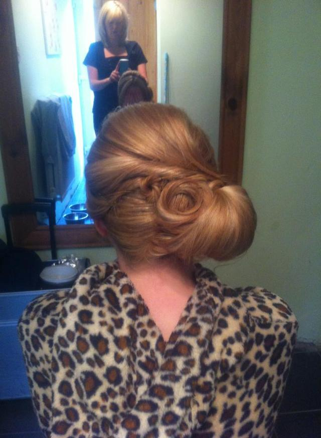 Hair up by Heidi at TGR