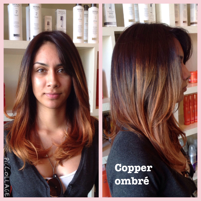 Hair by Ana Salinas Copper Ombre