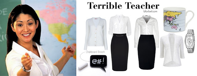 Terrible Teacher Outfit Collage