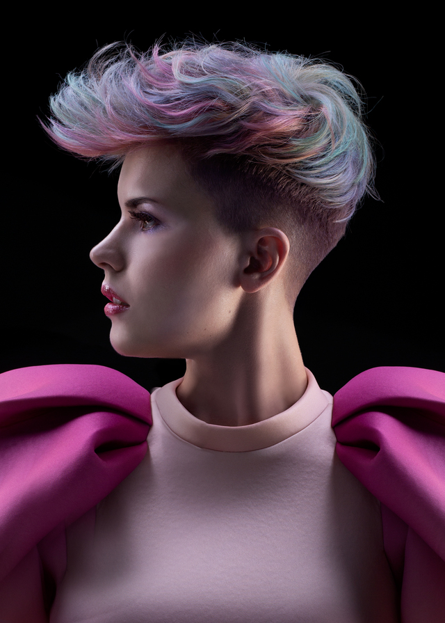 NAHA HAIRCOLOR FINALIST , GEODE COLLECTION BY CAROLINE ROBITAILLE