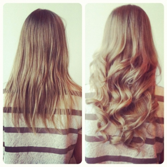 Microlink Hair Extensions(before/after) by jenniguccihair