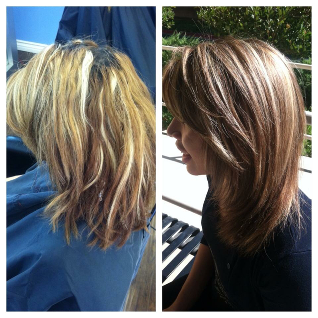 Before & after color correction