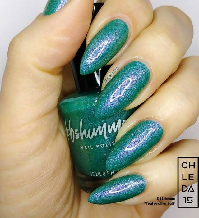 "KBShimmer ""Teal Another Tail"" Swatch"