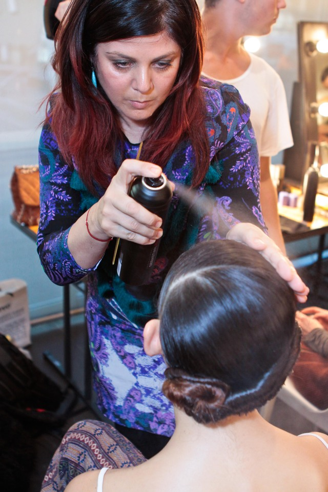 Backstage at Madgalena Velevska MBFWA 2012