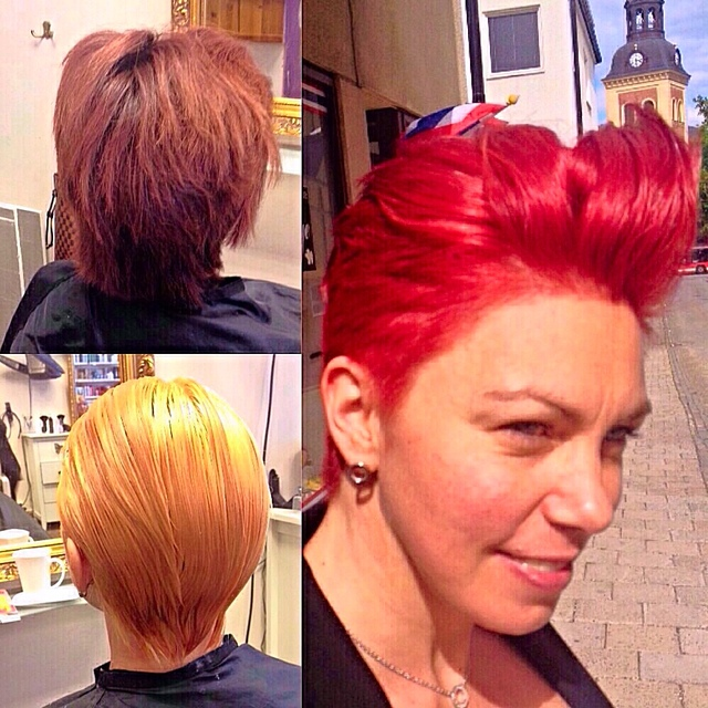 Transformation with Olaplex. Devil Red.