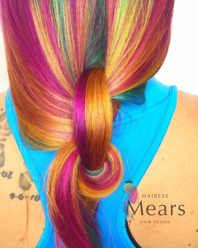November gemstones/birthday hair.