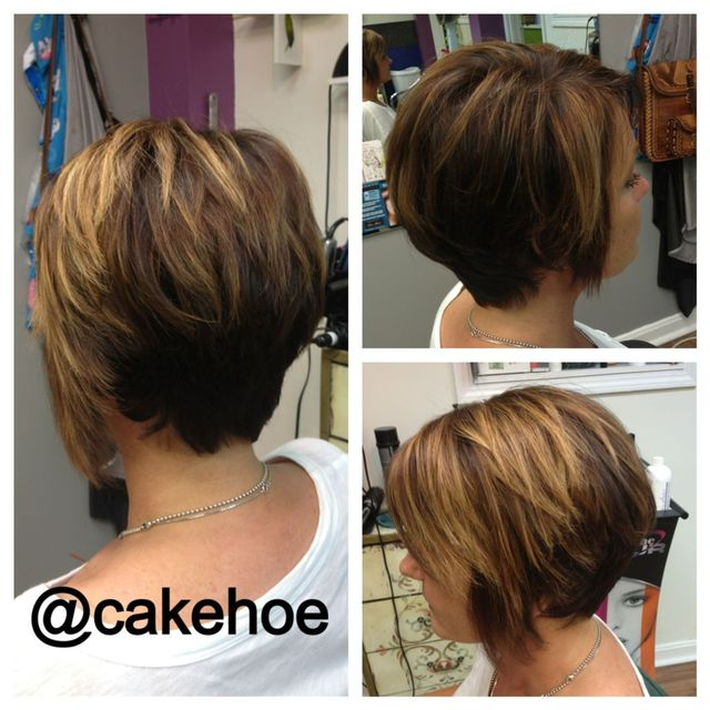 asymmetrical haircut and color