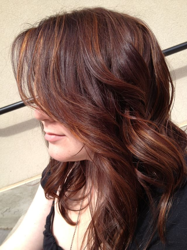auburn with highlights