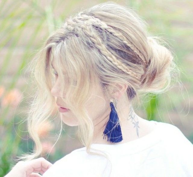 awesome updo bangs