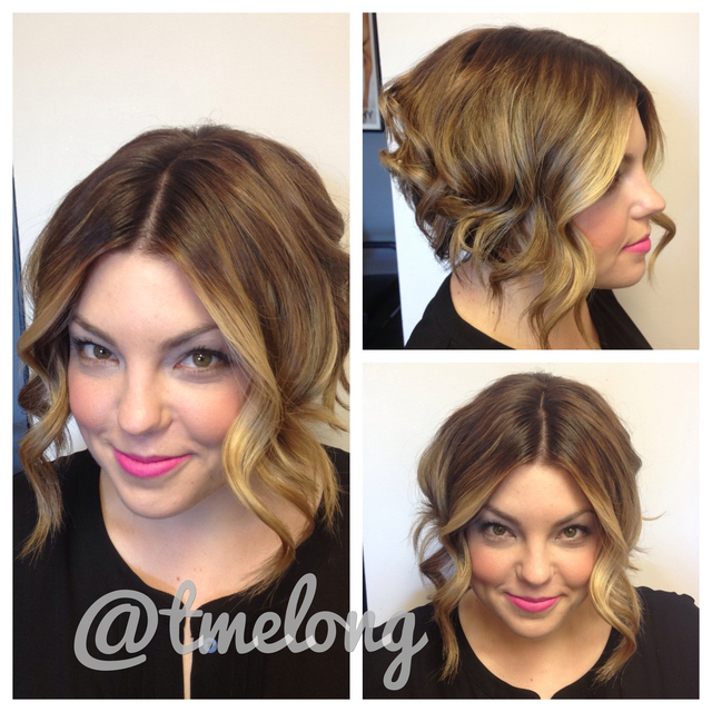 Balayage Bob on the beautiful Ellen