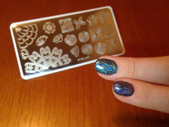 born pretty watermarble stamping plate