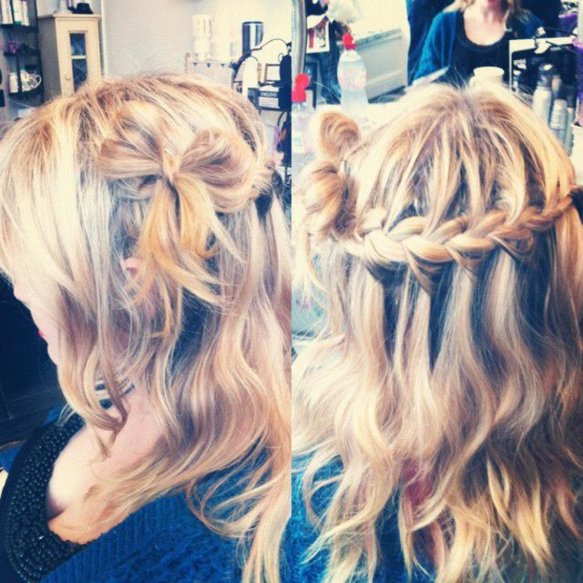 Waterfall Braid with Hair-bow