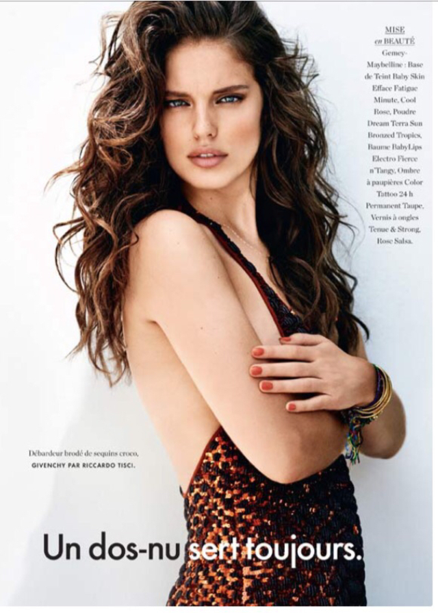Luxurious waves for ELLE France