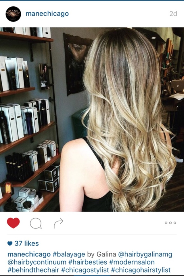 Continuum Colorist Shoutout to Mane Salon in Chicago! Gorgeous Balayage and Perfect health with the help of Continuum :)