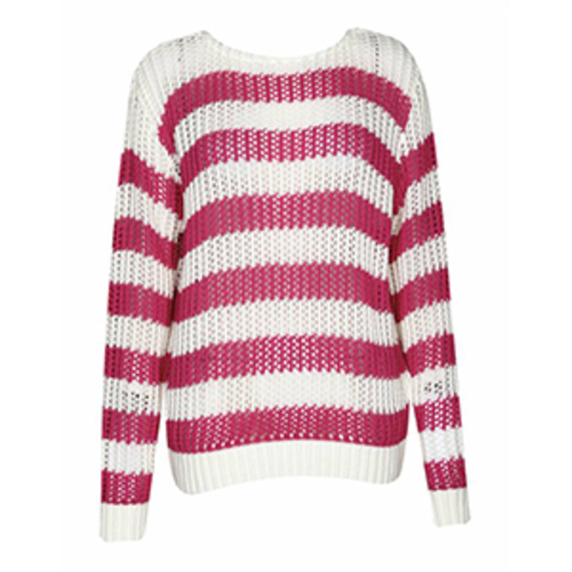 Boohoo Emma Striped Loose Knit Jumper