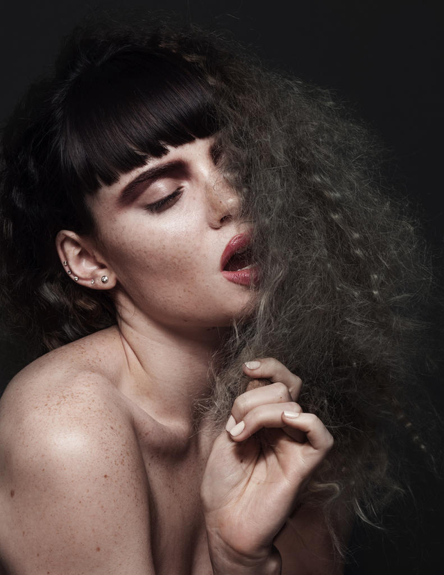 Photographer: Jimmy Johnston Model: Kyra Saffran Hair & Makeup: Katie Ballard Colorist: Raena Zlonis