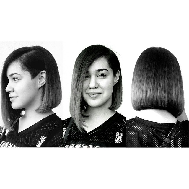 asymmetrical Bob with a side undercut by Yeessiie