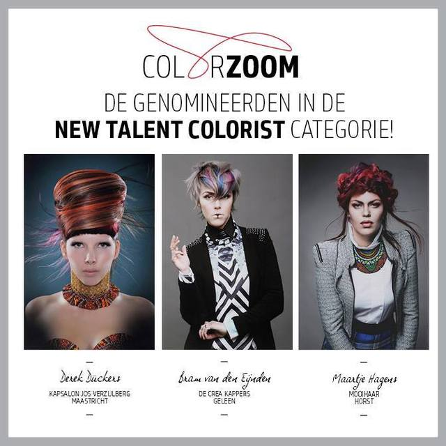 My send in Goldwell Color Zoom '15 Nominated!! Middle photo. ''New Talent Colorist'' Lets go to Las Vegas