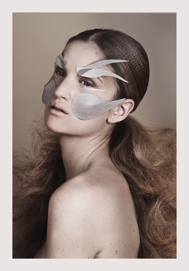 Origami, photo: Vivienne Balla, makeup: Judit Kokeny, model: Rose/visage