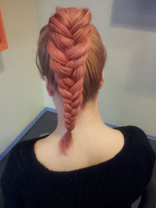 big pink braid