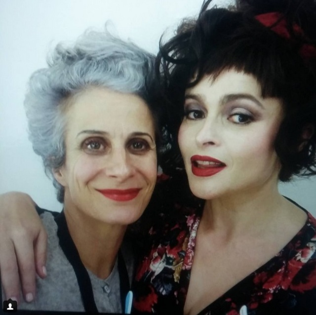 behind the scenes of mark and spencer christmas advert with helena bonham carter an make up artist louise constad nais by me aleksandra naczynska alexthemua