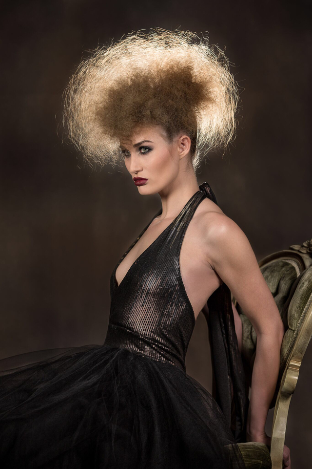 Model Sarah Morris. Wardrobe by Rooney Mar Couture. Photo by Bart Cepek. Concept hair and makeup by Danielle O'Connor