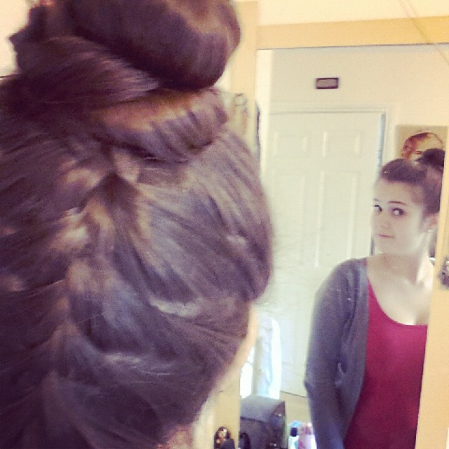 back braid with bun