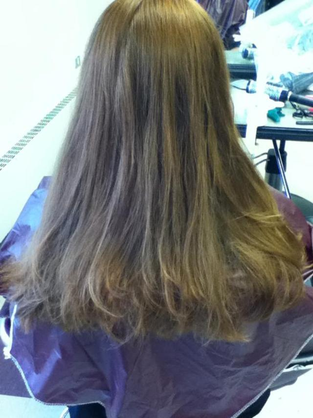 back of the long layered cut